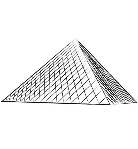 La Pyramidedu Louvre La Pyramide Du Louvre Louvreradeau De Coloriage Pyramide Du LouvreL