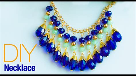 how to make bead earrings at home how to make necklace at home diy statement necklace