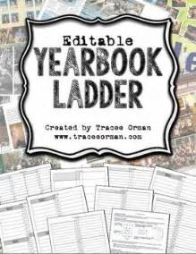 yearbook ladder editable template 16 page signatures
