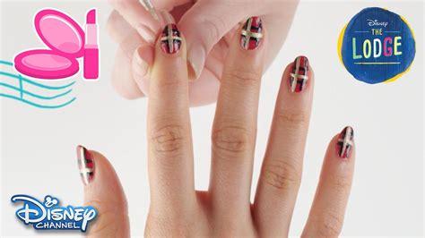 nail art tutorial disney channel the lodge nail art tutorial kaylee official disney