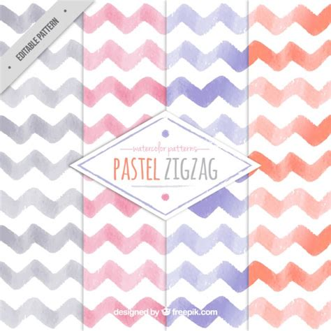 Zig Zag Pattern Pastel | pastel zig zag pattern vector premium download