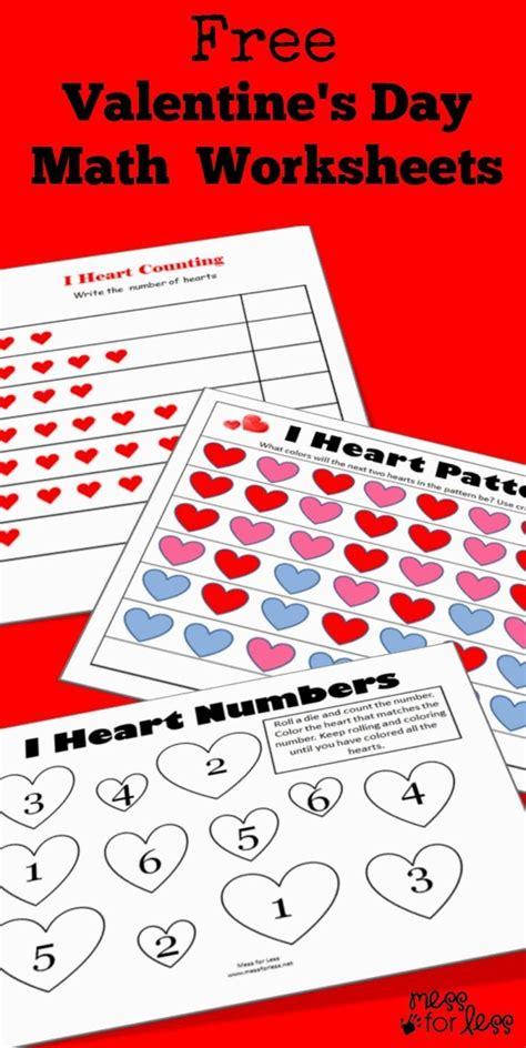 math valentines s math kindergarten worksheets valentines