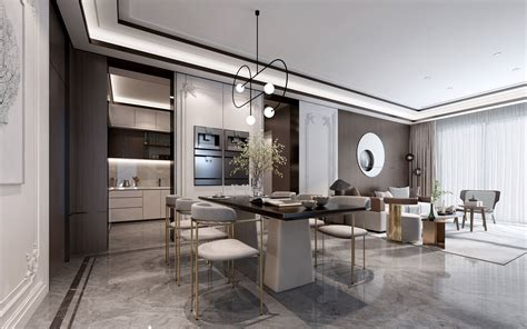 living room  dining room  model max obj ds fbx