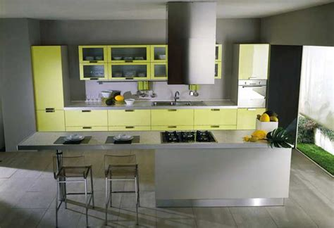 yellow kitchen design cool piramide yellow kitchen design interior design ideas