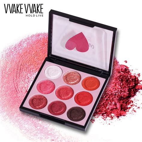 Eyeshadow Wardah No Shimmer hold live 9 colors professional shimmer matte eye shadow pigment eyeshadow palette glitter