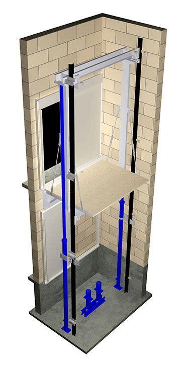elevator hydraulic twin jack piston holeless