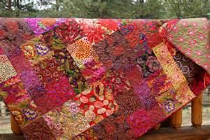 Fall fiesta lap or throw quilt kaffe fassett by piecesofpine