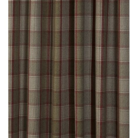 tartain curtains urban living cameron red tartan check eyelet curtains