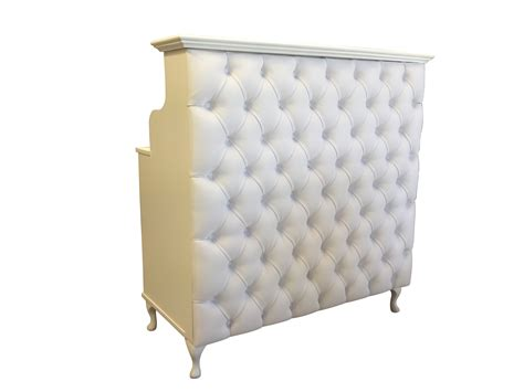White Padded Front Reception Desk Small White Reception Desk
