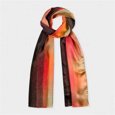 Gradient Silk Scarf paul smith s orange mainline gradient silk scarf in