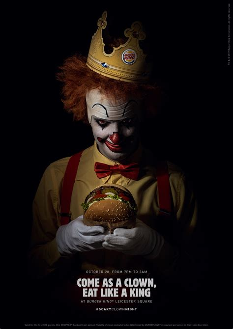 Of A King scaryclownnight x burger king digital caign
