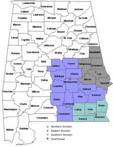 us district court alabama map divisional districts united states district court