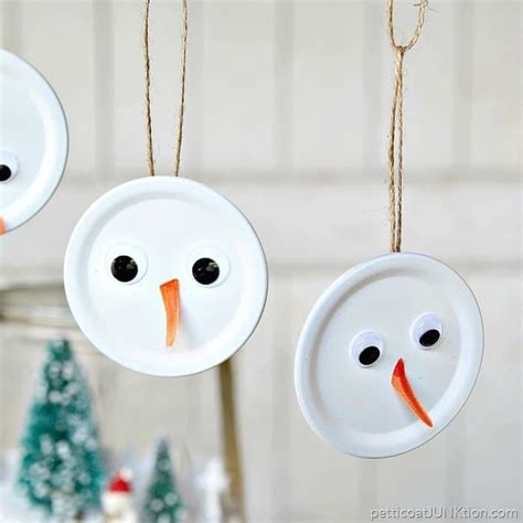 Handmade Snowman Ornaments - snowman handmade ornament is the tops petticoat