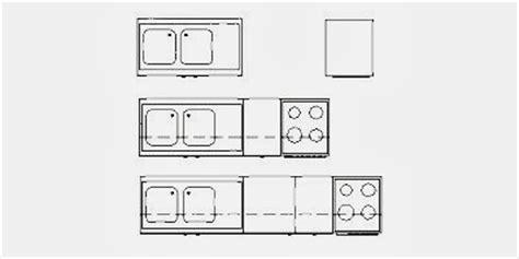 bloc autocad cuisine blocs de 8 types de mobilier de cuisine fichier autocad 224