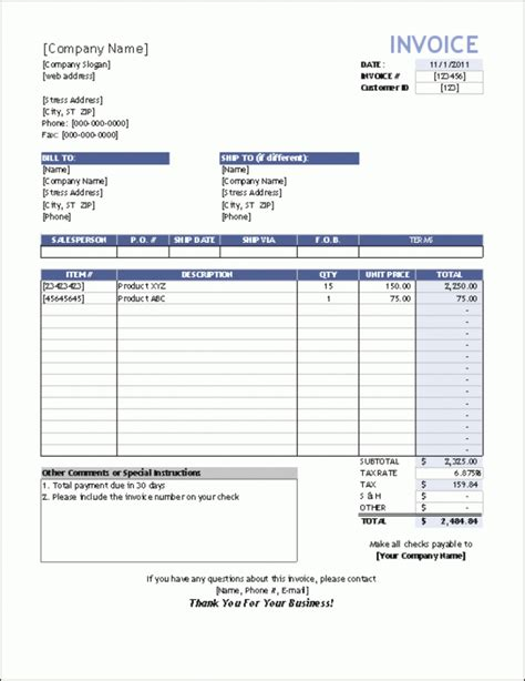 invoice template for excel basic sales invoice template excel rabitah net