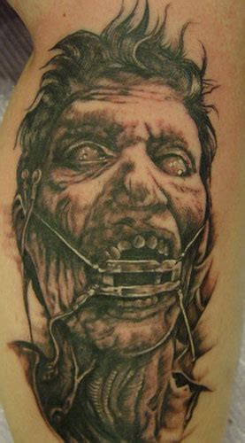 black and grey zombie tattoo looking for unique evil zombie tattoos tattoos crazy