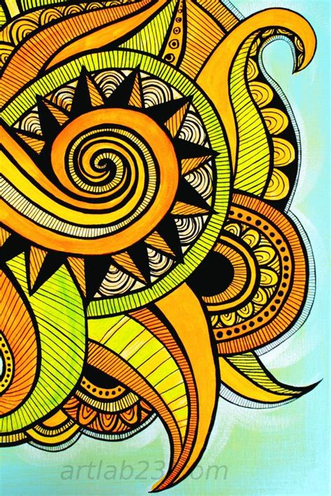 pattern nature colorful nature swirl abstract painting art print 8x10 colorful