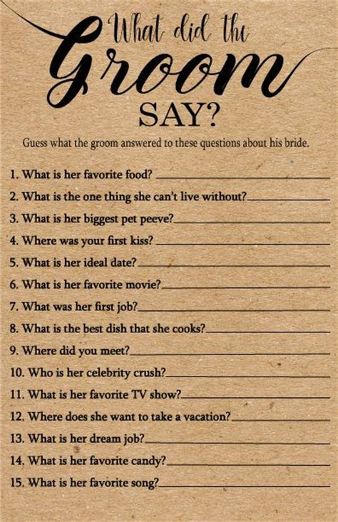 bridal shower questions to ask the groom bridal shower questions for groom best 25 and groom questions ideas on hnc