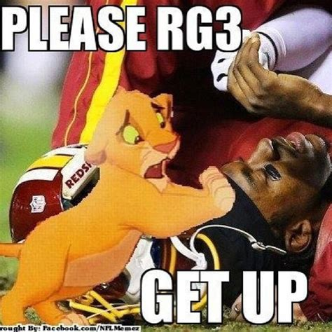 Rg3 Meme - the internet had some fun with robert griffin iii s knee