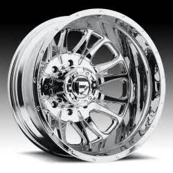 Truck Wheels Chrome Fuel D212 Throttle Dually 2 Pc Chrome Truck Wheels Rims