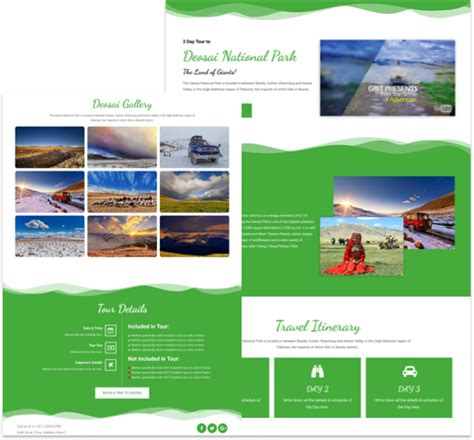personal landing page template for elementor free free landing page elementor template for tourism cakewp
