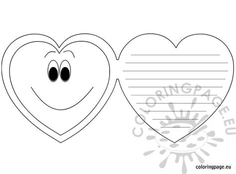 S Day Card Template Color by S Day Greeting Card Coloring Page