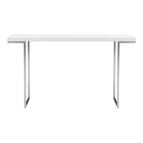white lacquer console table repetir console table white lacquer products moe s usa