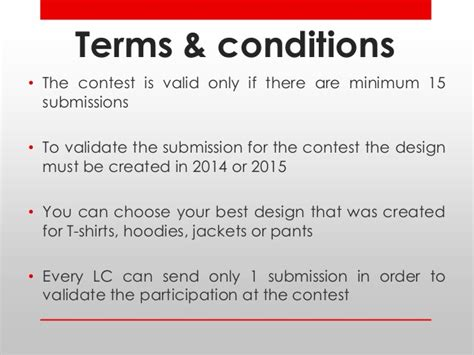 Design Contest Terms And Conditions | terms and conditions brandshout design challenge