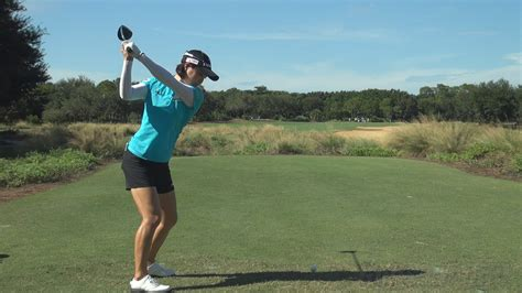 slow motion golf swing from behind so yeon ryu perfect dtl driver golf swing 2013 reg
