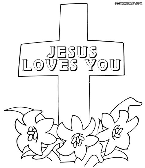 coloring pages jesus loves you printable coloring page jesus loves you coloring pages