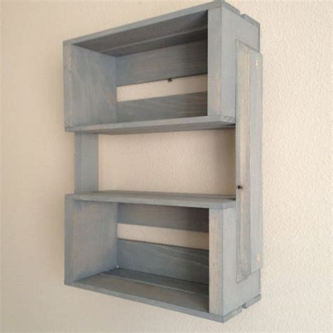 Small Wooden Shelf Small Wooden Crate Hanging Shelf Wall Fixture Shelves For