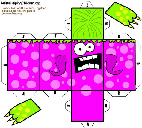 Paper Folding Templates - paper foldable template png 2713 215 2448