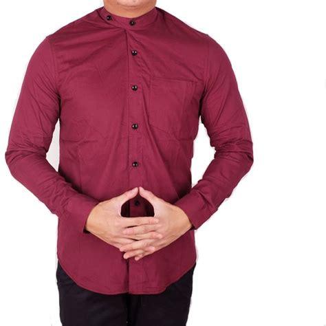 Koko Pria Maroon kemeja koko polos fashion pria lebaran pria cowo maroon
