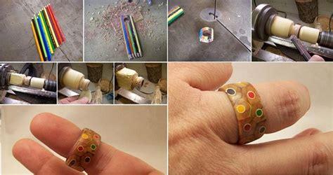 colored pencil ring diy colored pencil ring home design garden