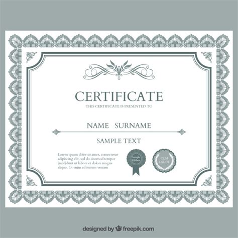 certificate template vector free download