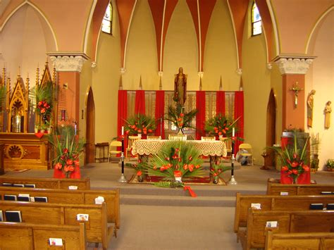Palm Sunday Decorations Church by Sacred Coshocton