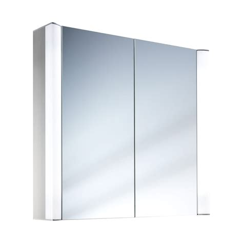 schneider mirrored bathroom cabinet schneider moanaline 2 door mirror cabinet 800 x 640mm