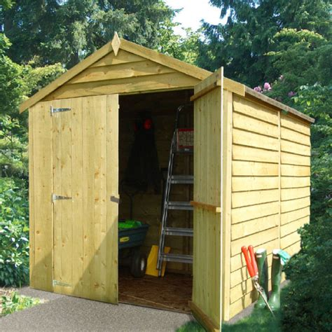 Windowless Shed by Shire Overlap Windowless Shed Doors Pt 8x6