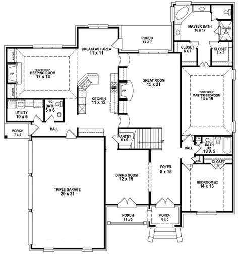 Slab Foundation Floor Plans by 654257 Great Looking 4 Bedroom 3 5 Bath House Plan