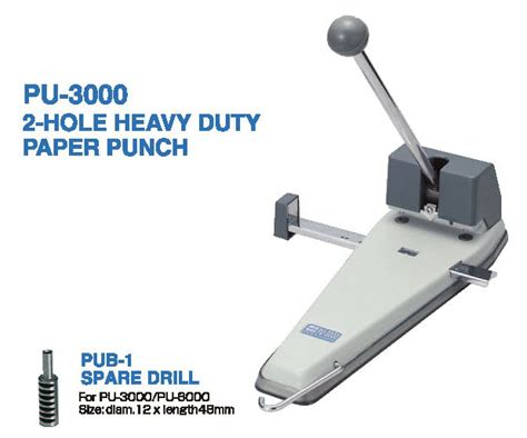 Three Puncher Mesin Plong Kertas Heavy Duty Mesin Plong Otner Kua open punch pu 3000