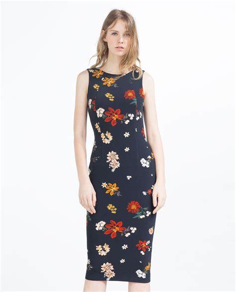 floral dress midi dresses zara united states