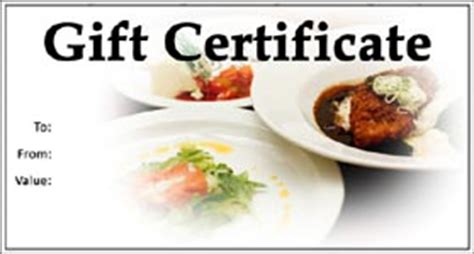 dinner gift certificate template related keywords suggestions for dinner certificate