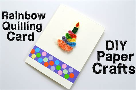 How To Make Birthday Gifts Out Of Paper - how to make a quilling gift card diy bithday gift idea