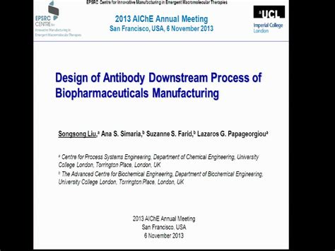biopharmaceutical processing development design and implementation of manufacturing processes books optimal design of antibody downstream process of