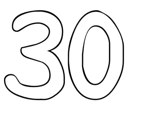 coloring pages numbers 1 30 image gallery number 30