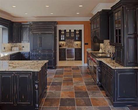 Black Kitchen Cabinets Pinterest Furniture Suave Distressed Black Kitchen Cabinets Distressed Black Kitchen Cabinets With