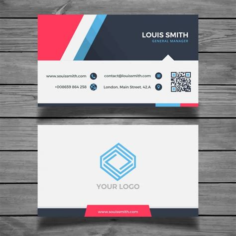 modern business card templates free modern colorful business card template vector free