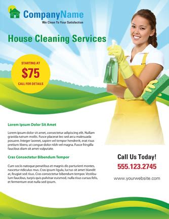 House Cleaning Flyer Templates Yourweek Eeade3eca25e Cleaning Company Flyer Template
