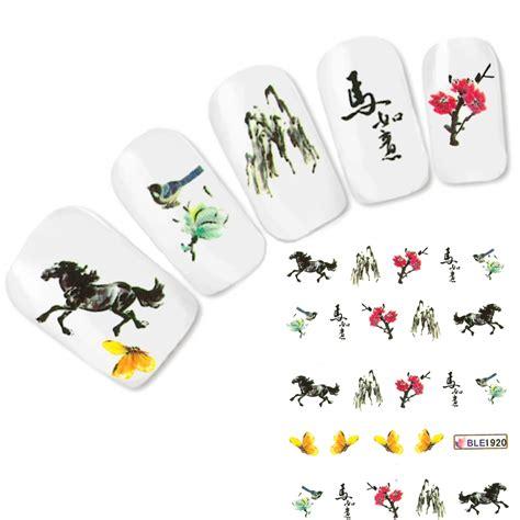 schmetterling 3d 4180 nail japan pferd aufkleber nagel sticker