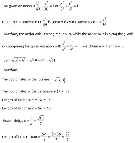 conic sections class 11 ncert solutions for class 11th maths chapter 11 conic sections